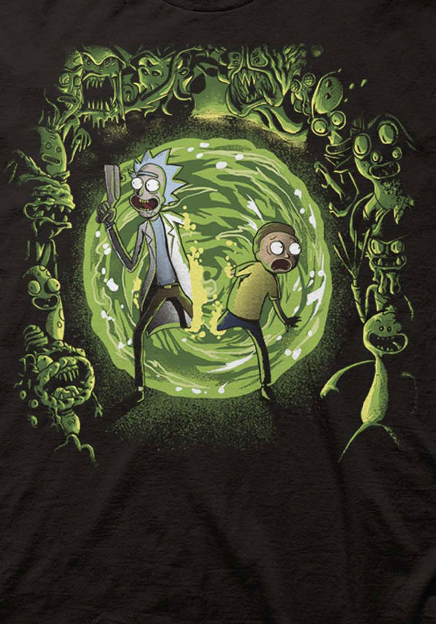 Rick And Morty T Shirt Portal And The Monsters