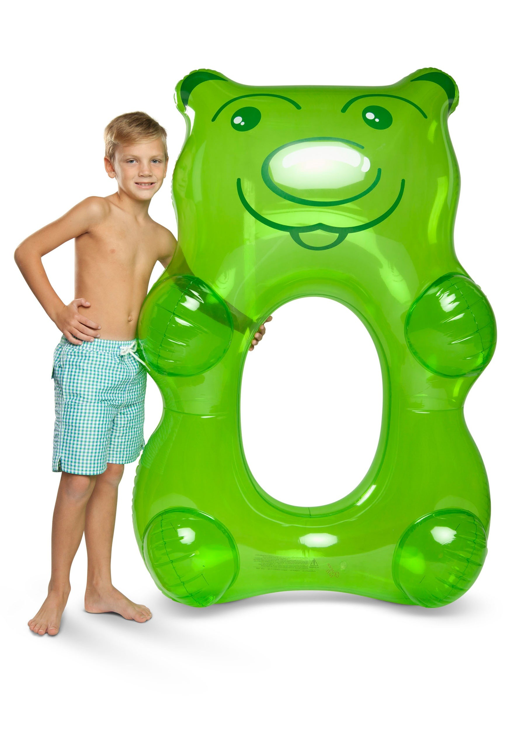 Green gummy bear pool float for kids and adults for Swimmingpool gummi