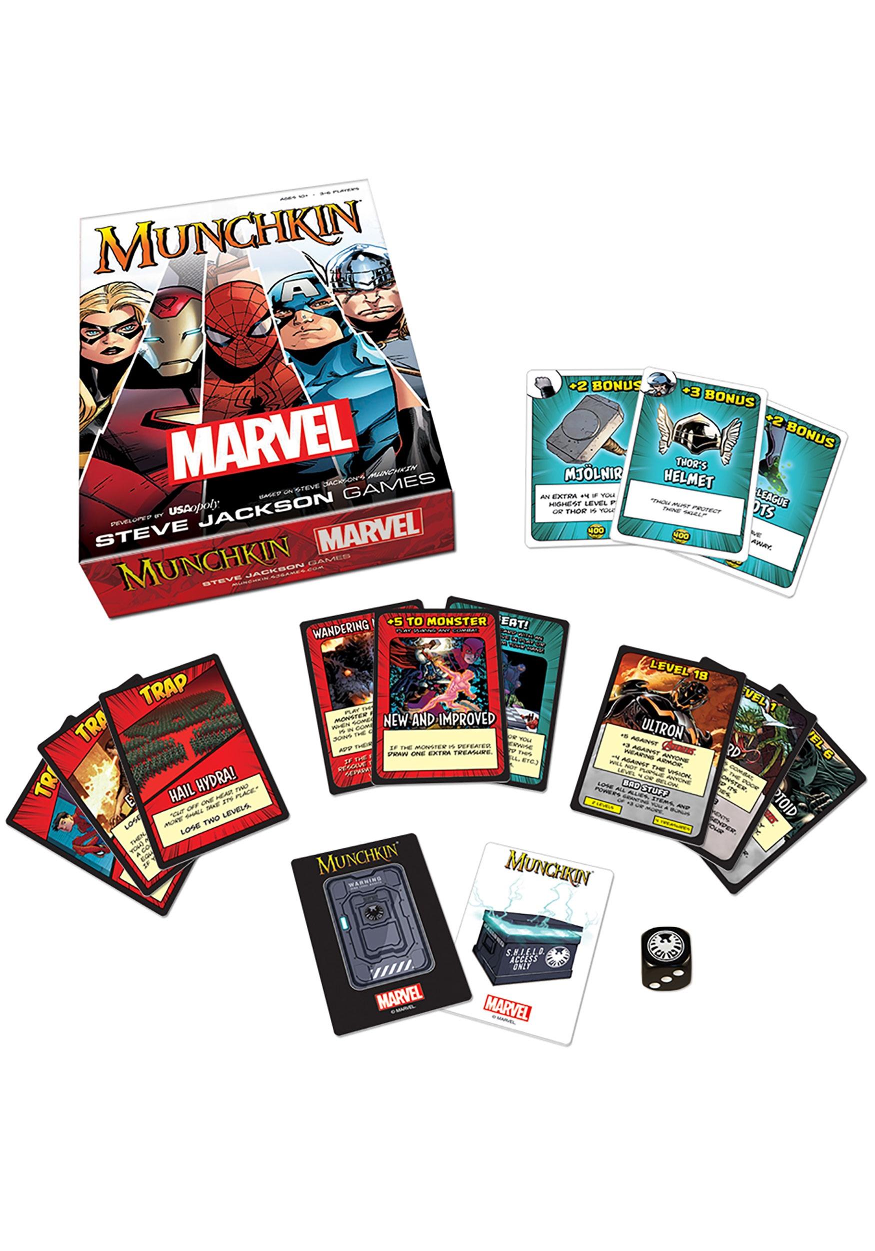 MUNCHKIN Game - Marvel Edition