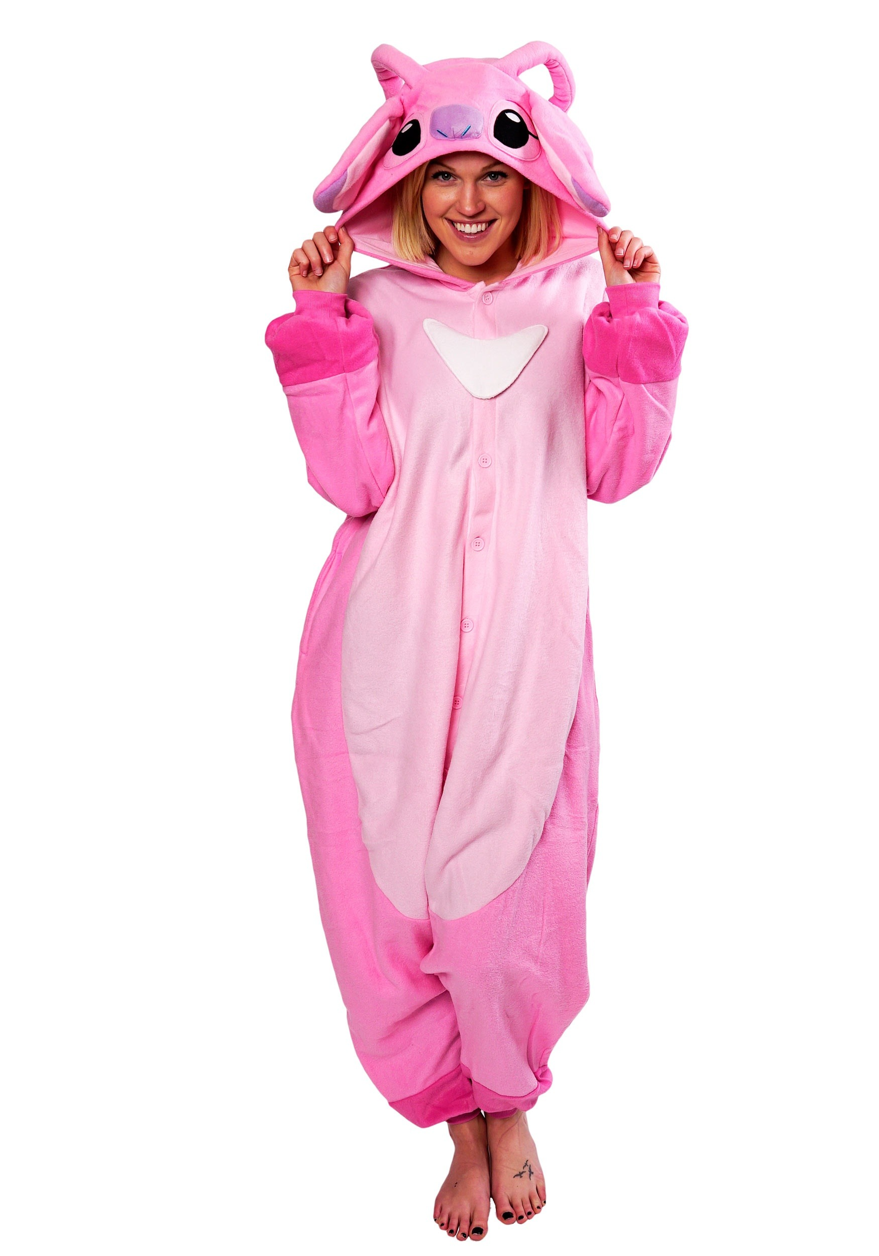 Adult Lilo and Stitch Angel Kigurumi