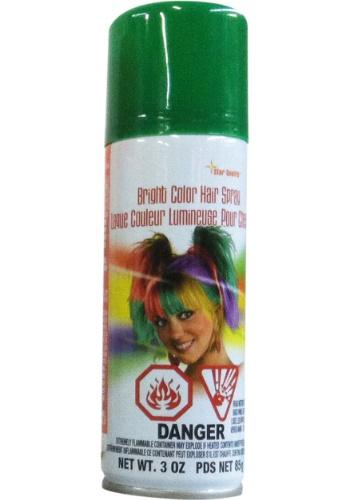Green Aerosol Hair Spray