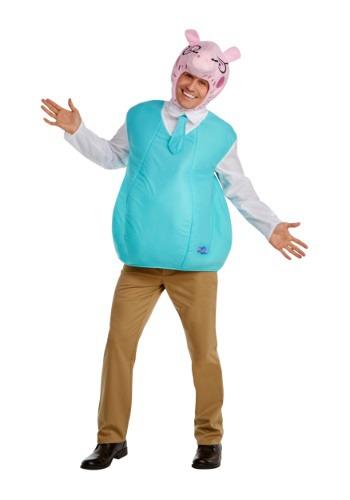 Men's Peppa Pig Daddy Pig Costume