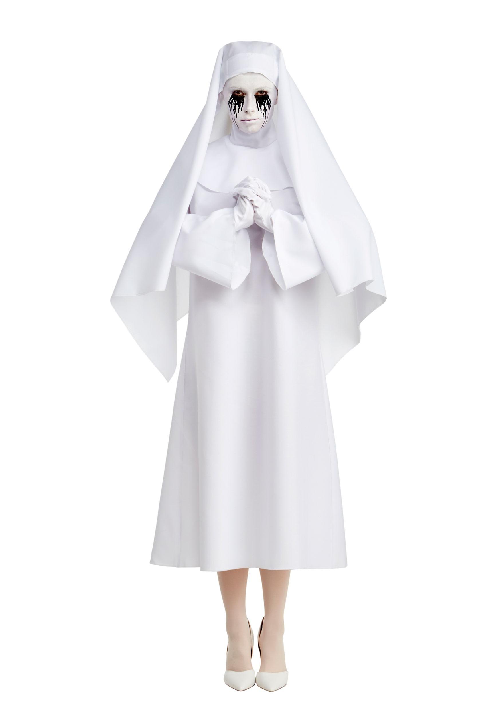 American Horror Story Deluxe The White Nun Womenu0027s Costume  sc 1 st  Fun.com & American Horror Story Deluxe The White Nun Costume for Women