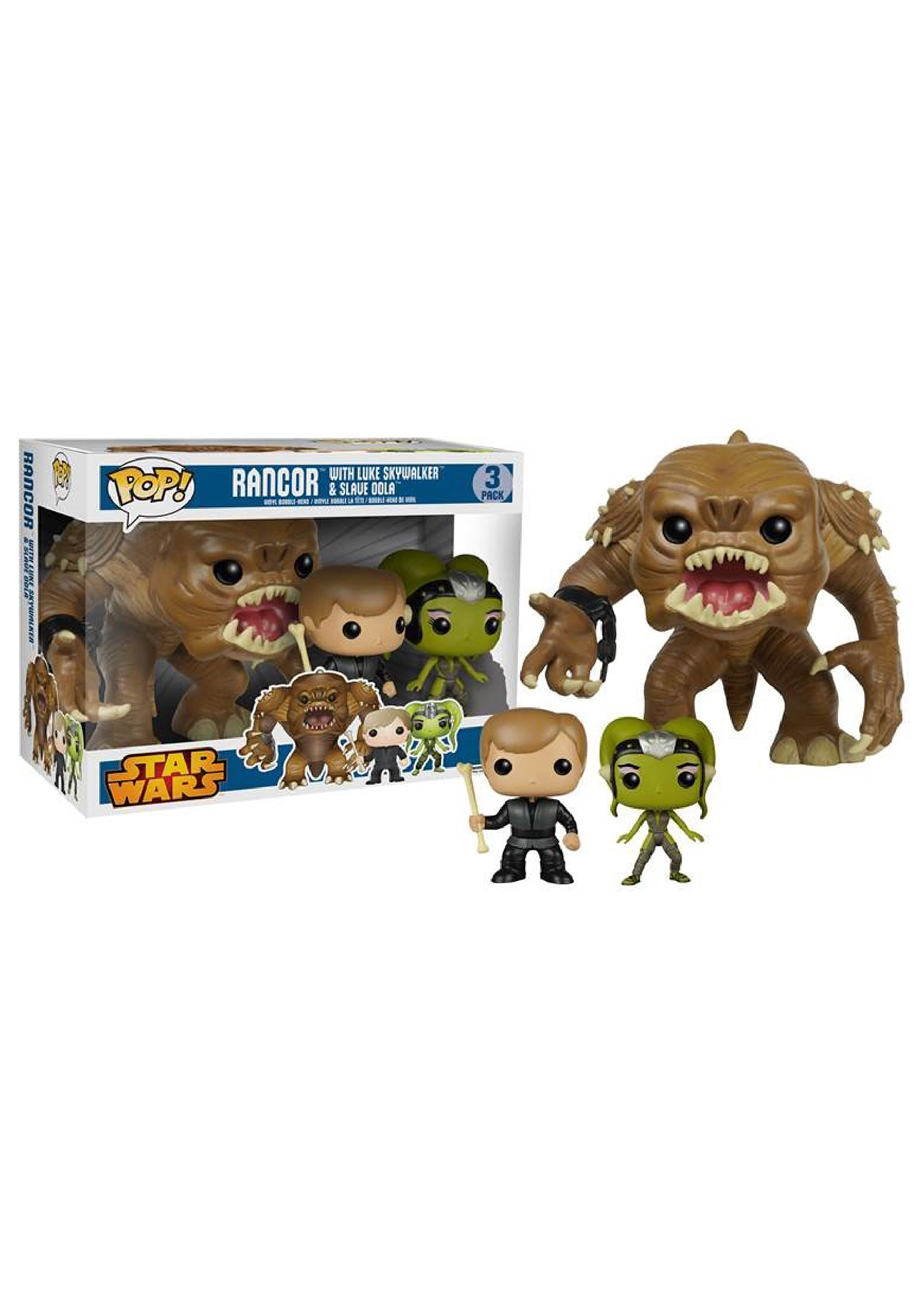 Funko Pop Star Wars Rancor W Luke Amp Slave Oola Bobblehead