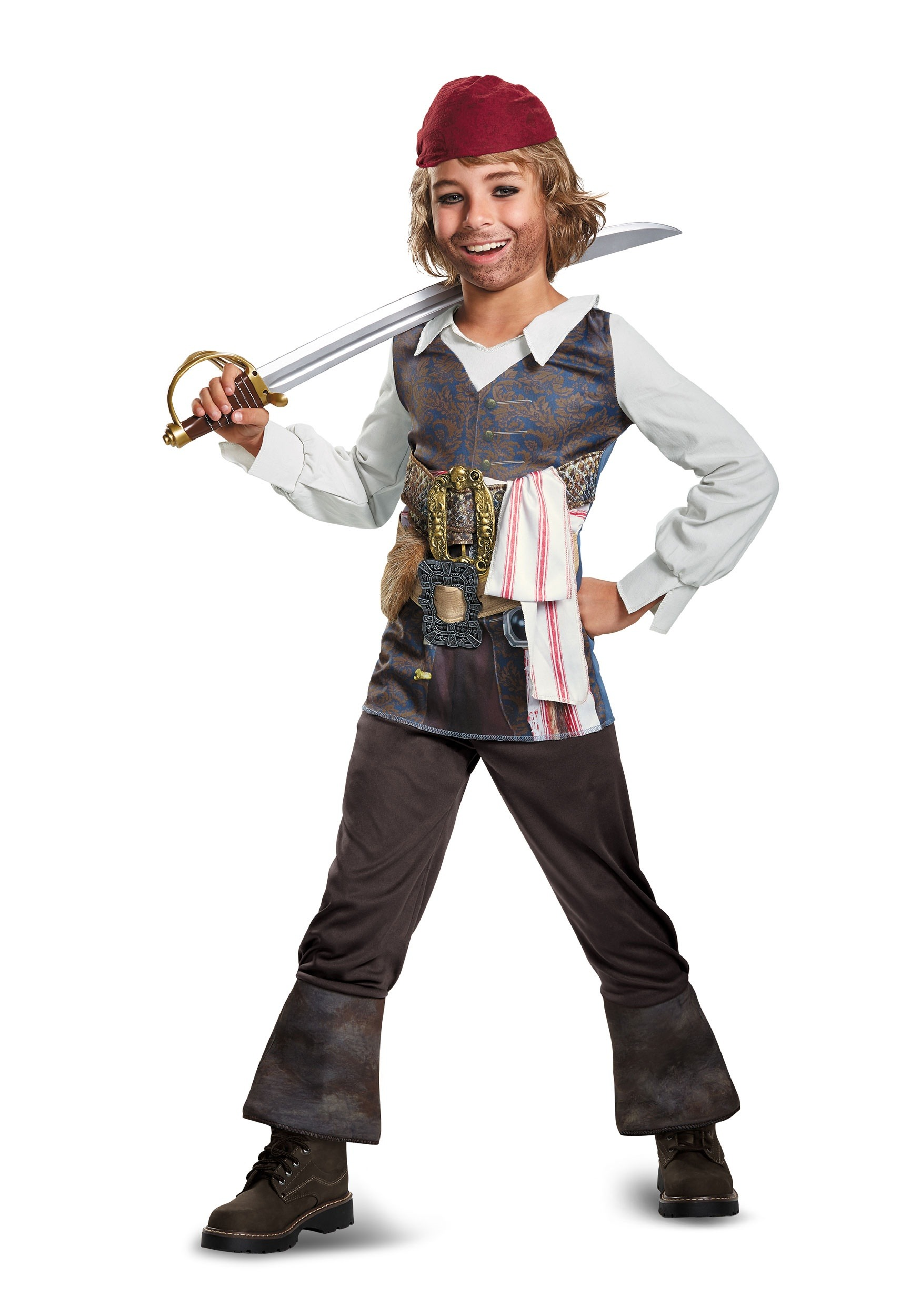Captain Jack Sparrow Child Classic Costume  sc 1 st  Fun.com & Child Captain Jack Sparrow Classic Costume