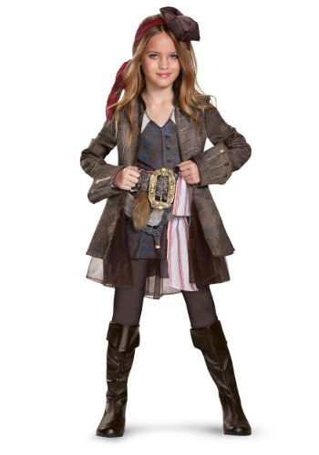 Captain Jack Sparrow Girls Deluxe Costume