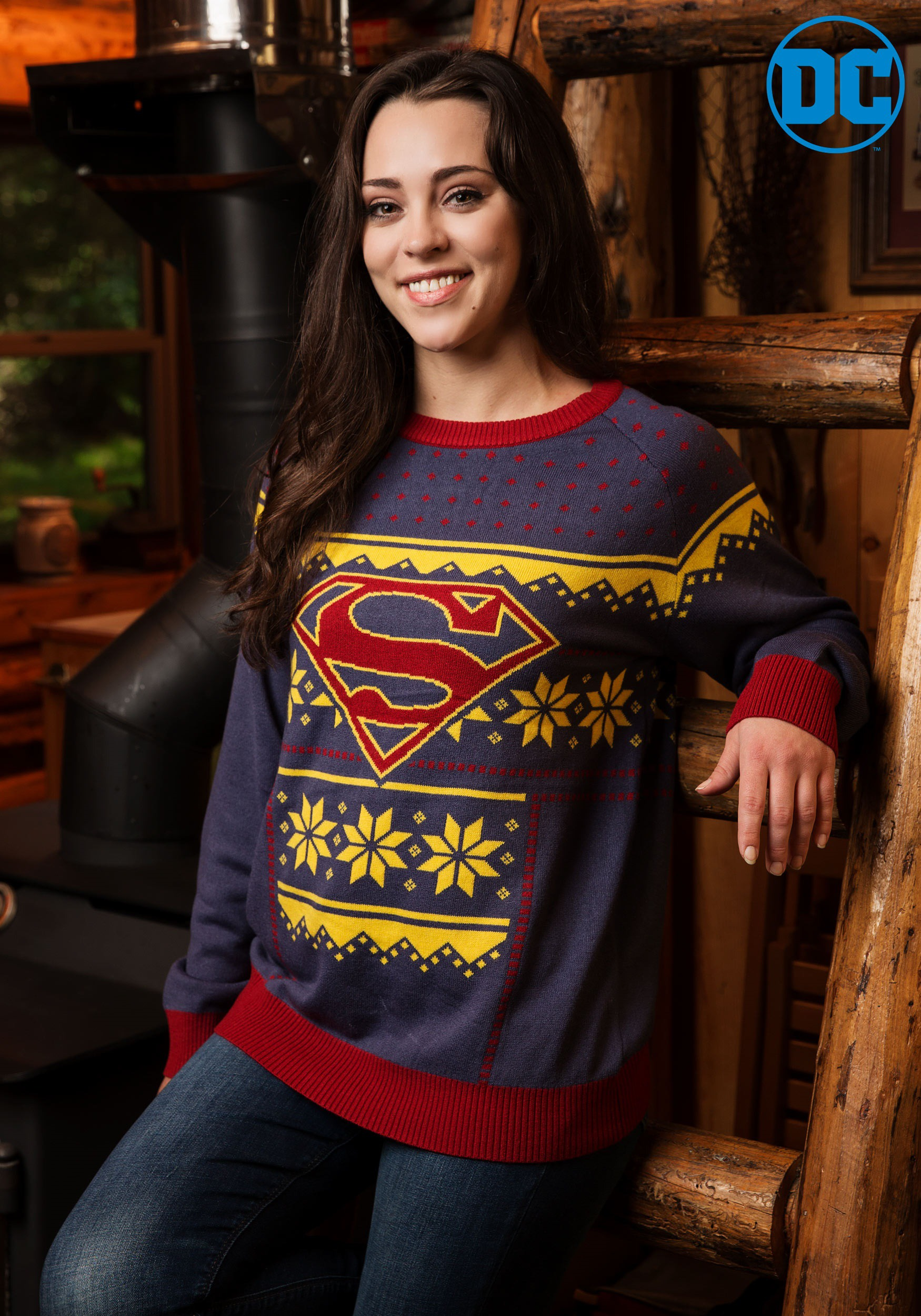 f191b66fc Women's Superman Holiday Sweater