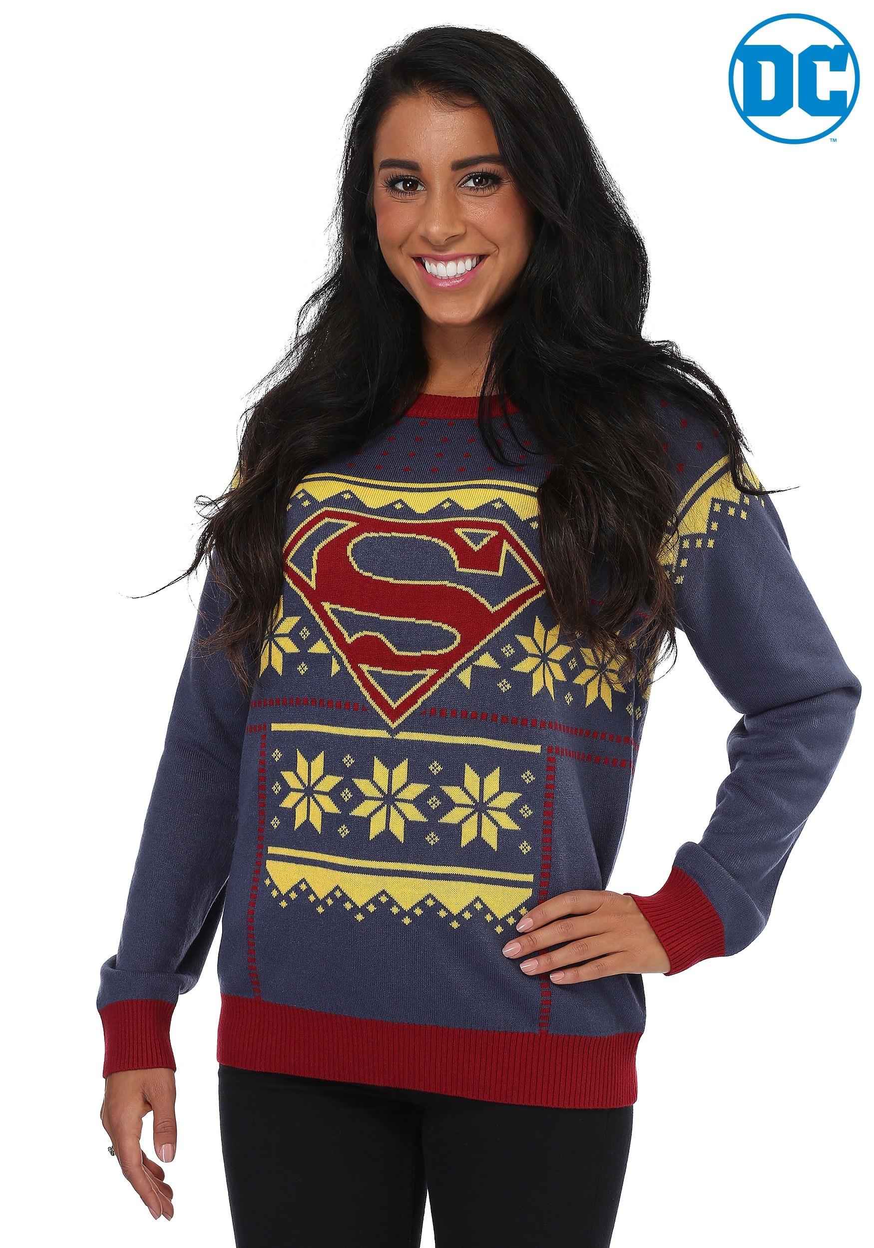 Superman Ugly Christmas Sweater for Women