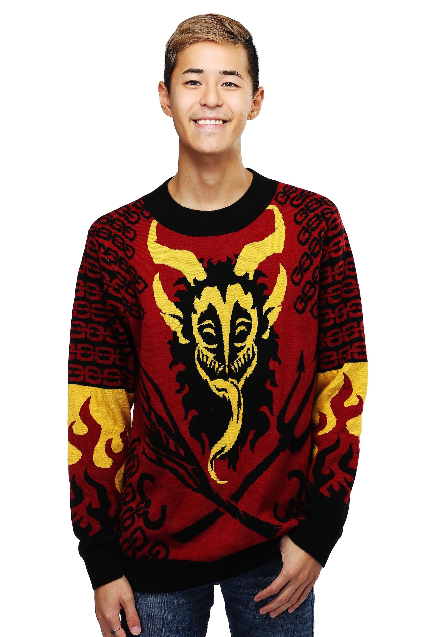 Krampus Ugly Christmas Sweater for Men
