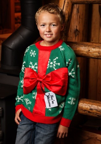 Kid's Present Holiday Sweater