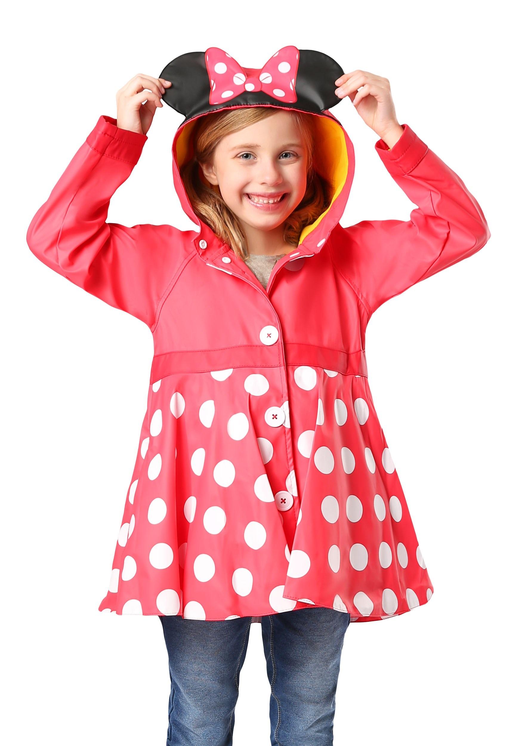 choose authentic on sale buy Minnie Mouse Girls Rain Coat