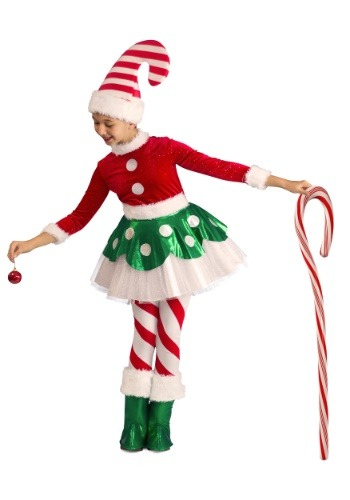 Candy Cane Elf Princess Costume