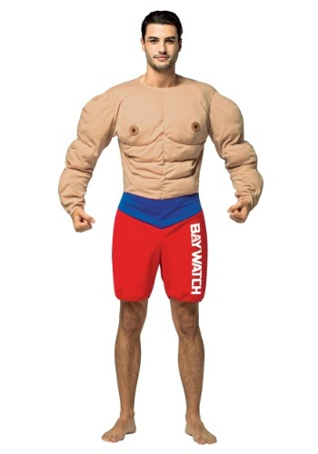 Adult Baywatch Muscles Costume