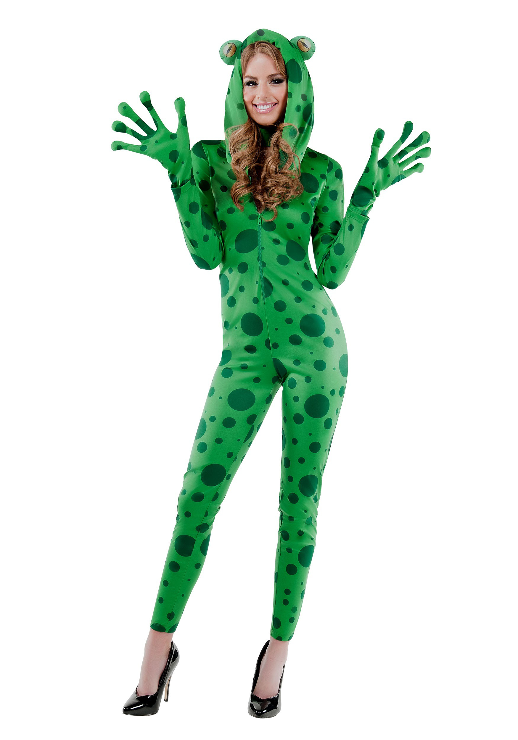Frisky Frog Costume For Adults-5743