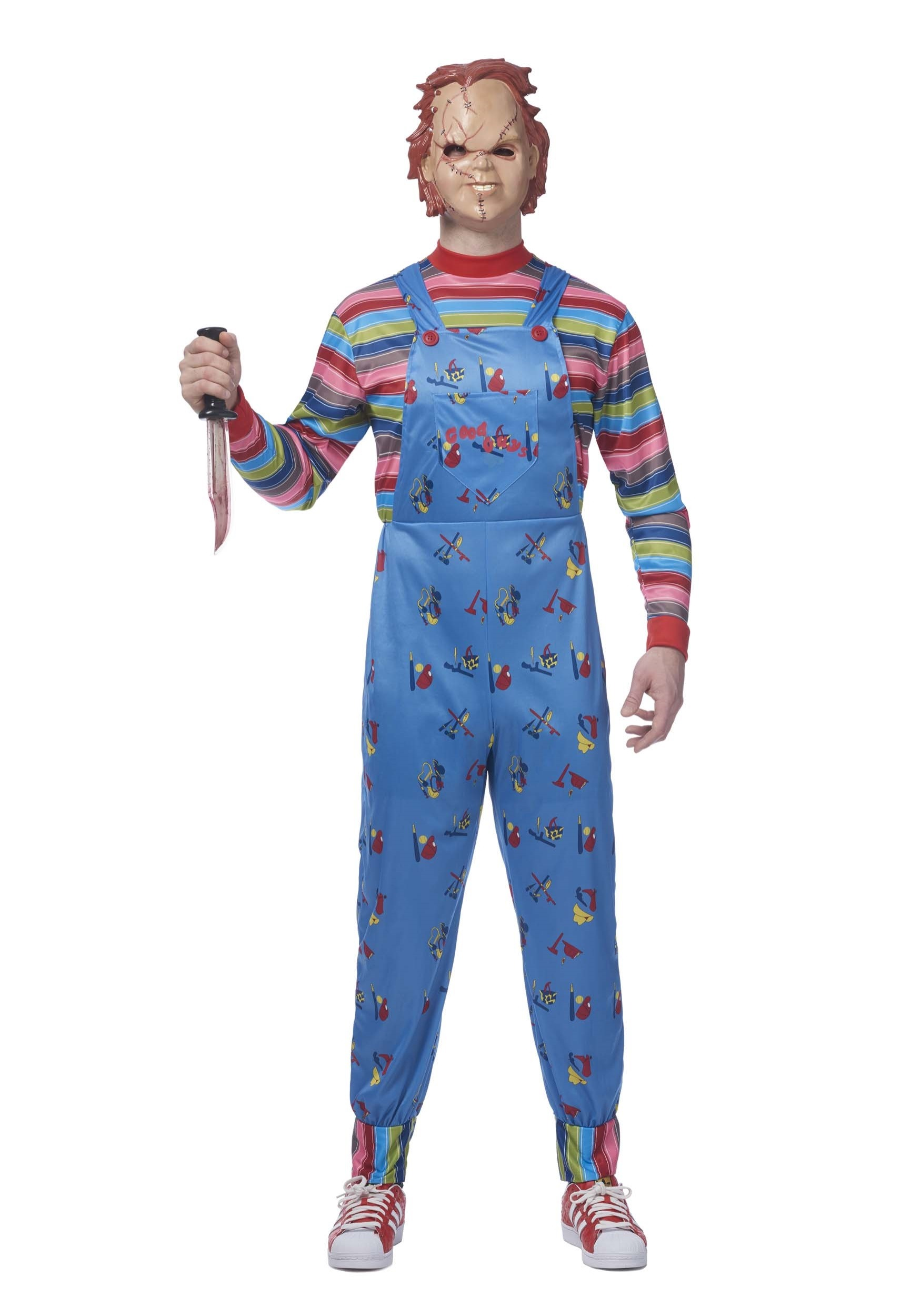 Chucky costume for adults adult chucky costume solutioingenieria Choice Image