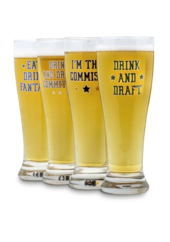 Fantasy Football Pint Glass Set of 4