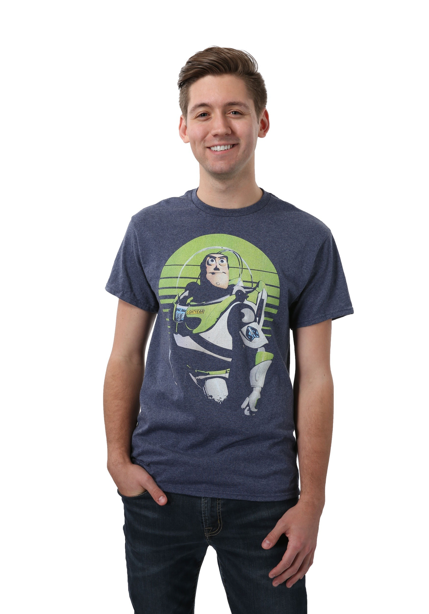 Sight on stars buzz lightyear t shirt for men for Mens shirt with stars