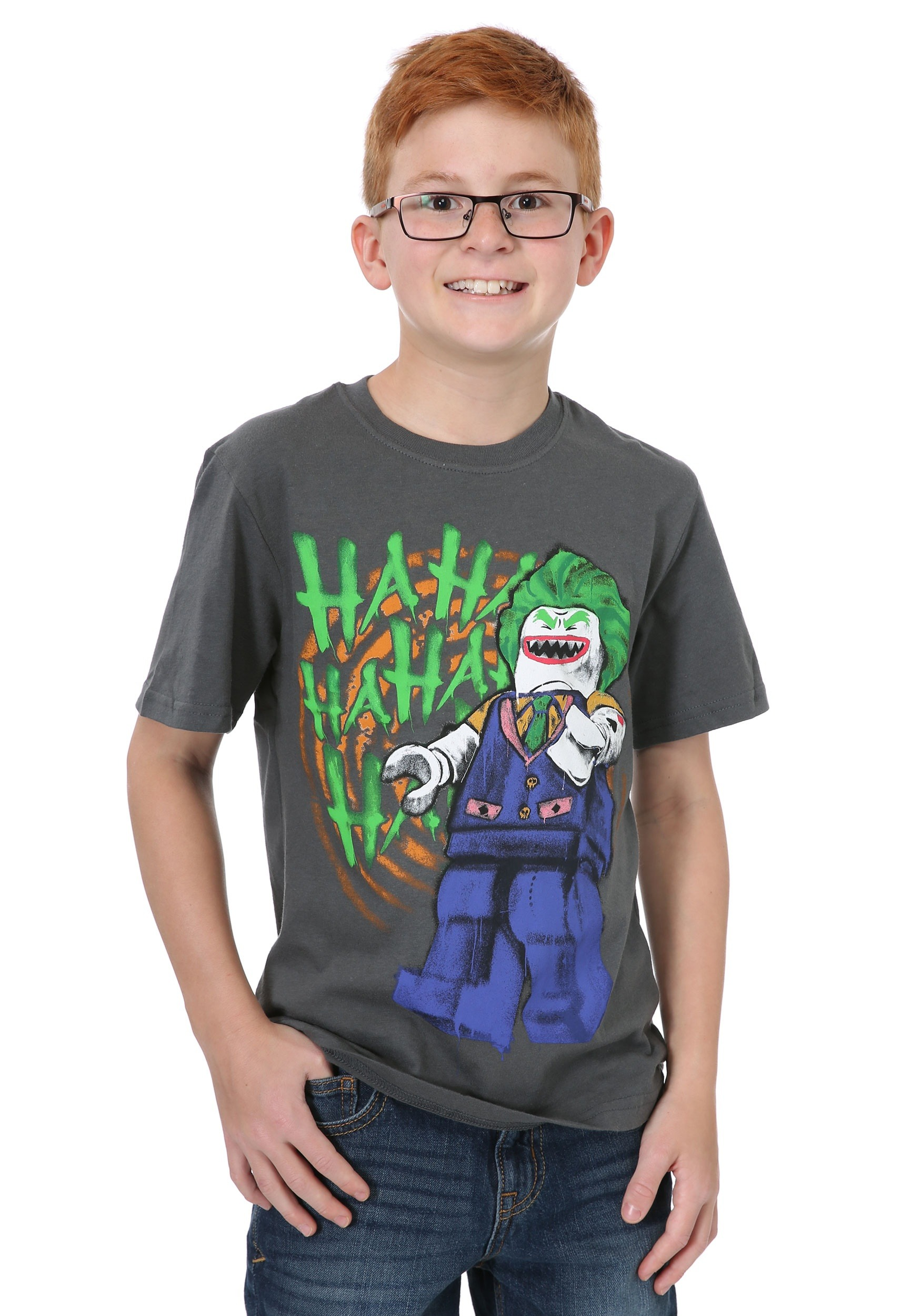 Lego Batman Laughing Joker Boys T-Shirt ILBL9L0079OL