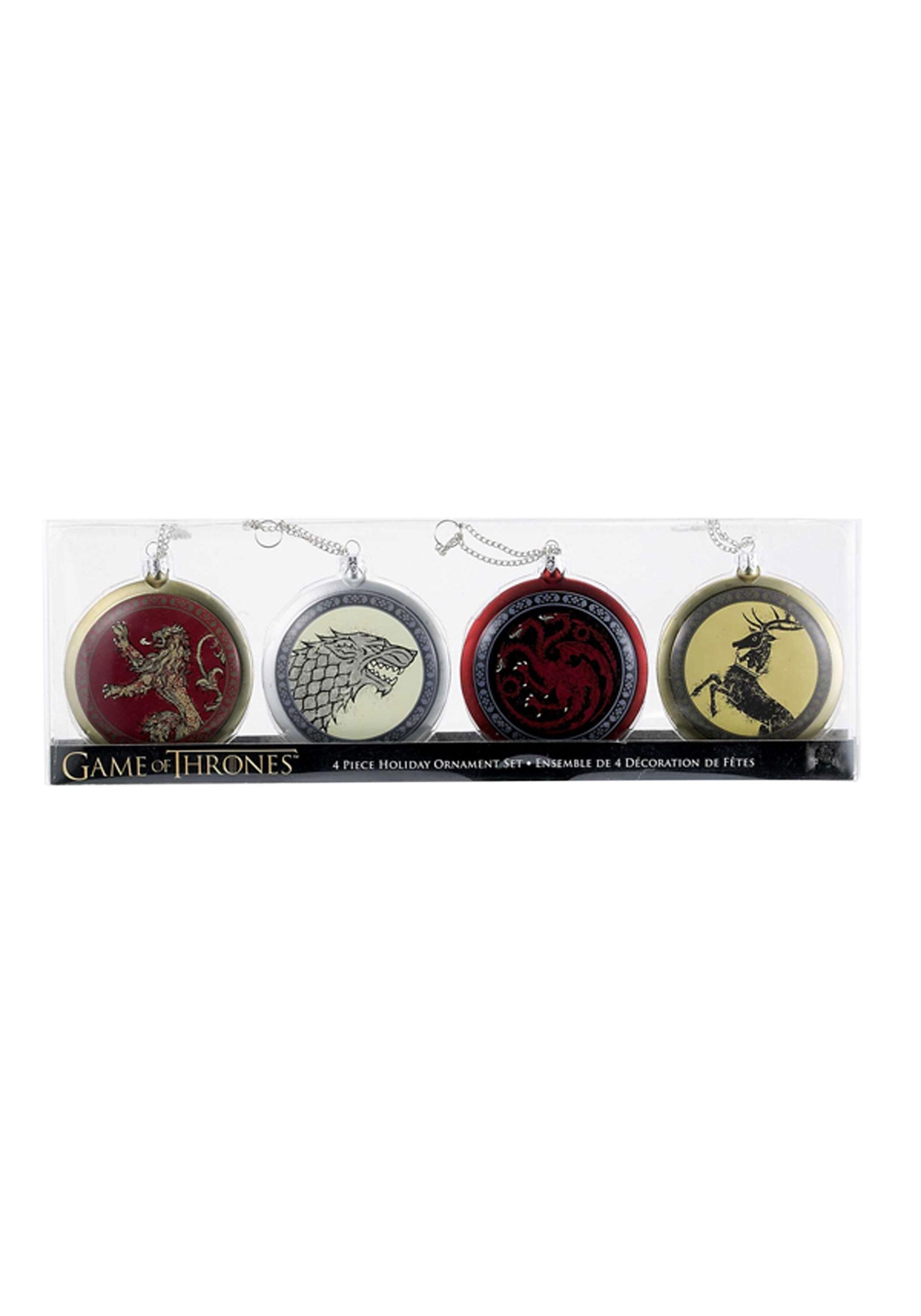 Game of Thrones 4 pc Disc Ornament Set KAGO1142
