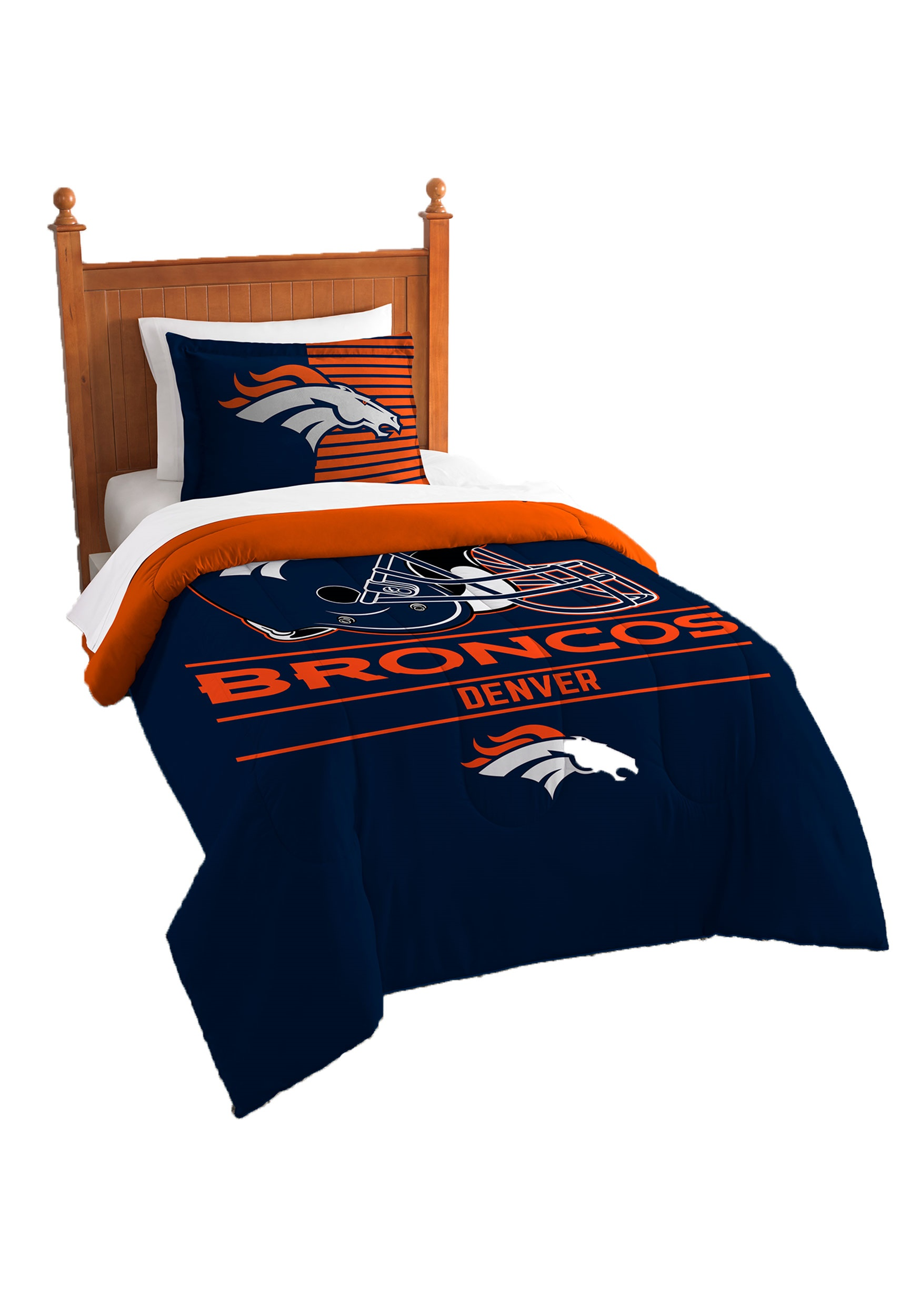 Beau Denver Broncos Twin Comforter Set
