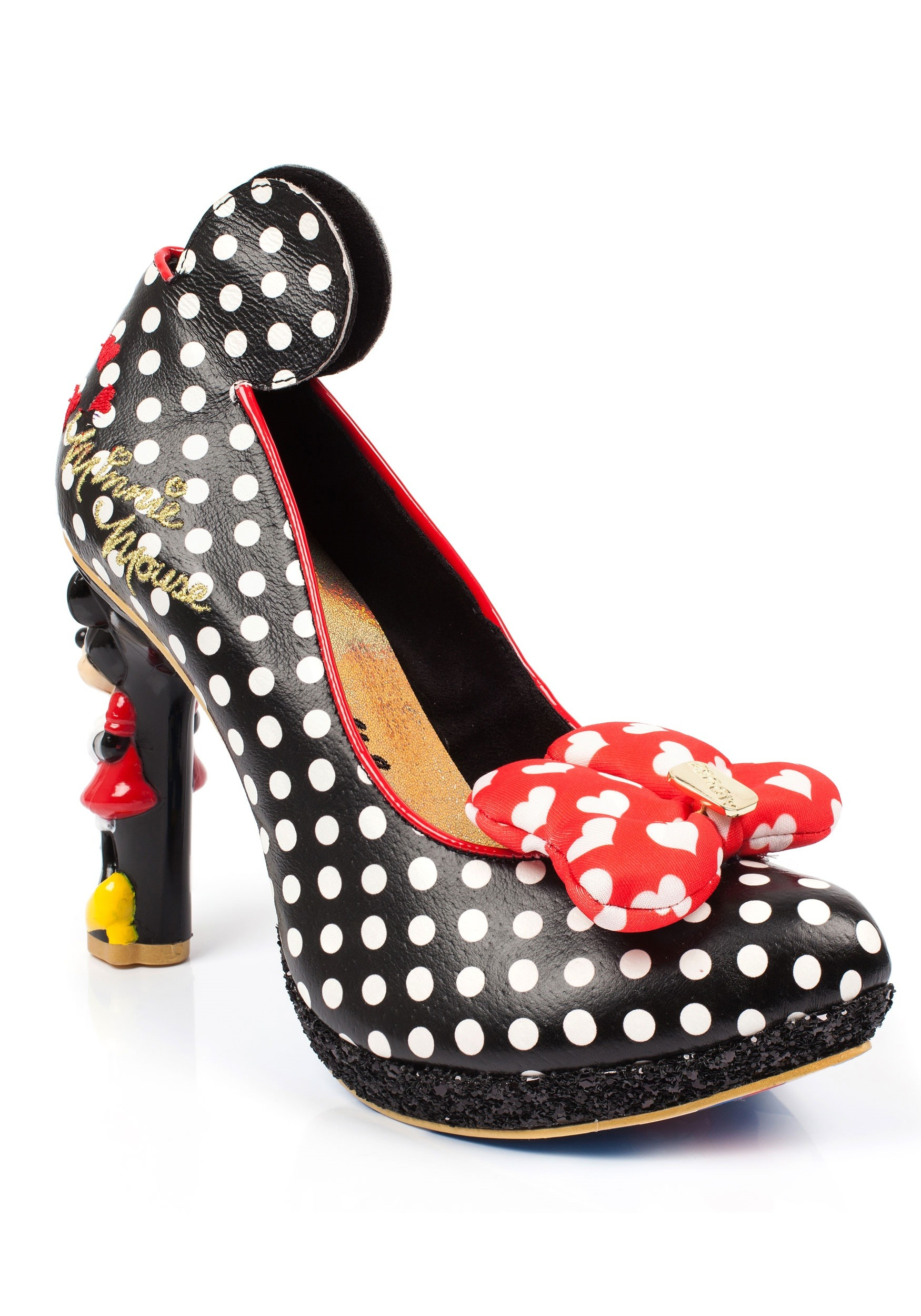 5445094a3422 Disney Oh My! Polka Dot Minnie Character Heels
