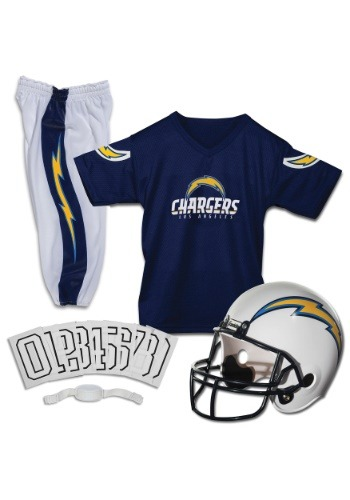 Kids Chargers-NFL Deluxe Helmet/Uniform Set