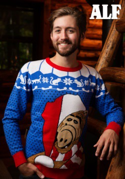 Alf Adult Ugly Christmas Sweater Alt 1