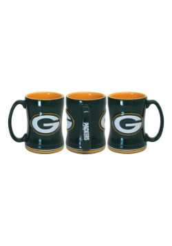 14oz Green Bay Packers Sculpted Relief Mug