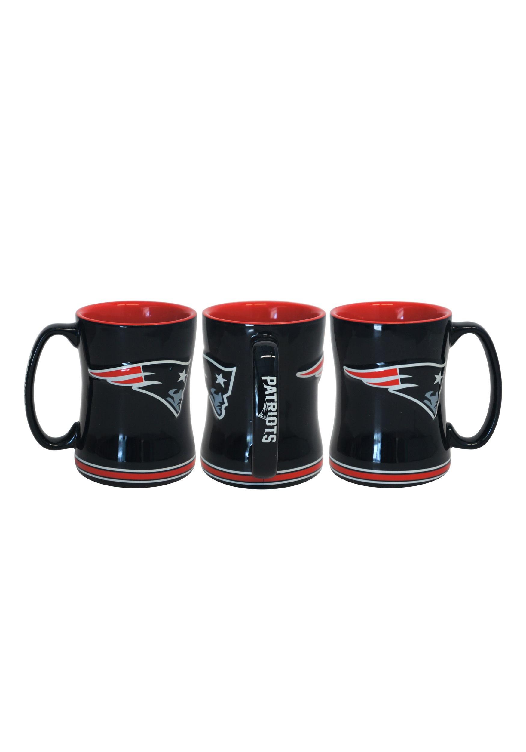 14 o.z. New England Patriots Sculpted Relief Mug BOE225888