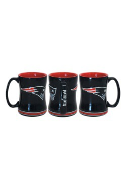 14oz New England Patriots Sculpted Relief Mug