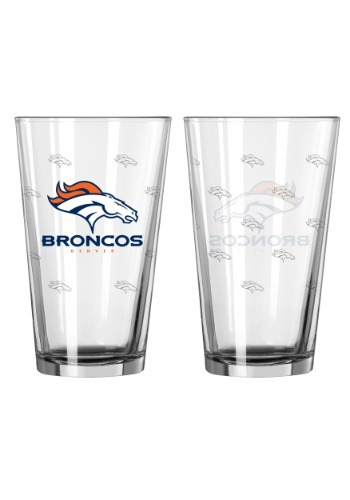 16oz Denver Broncos 2-Pack Pint Set