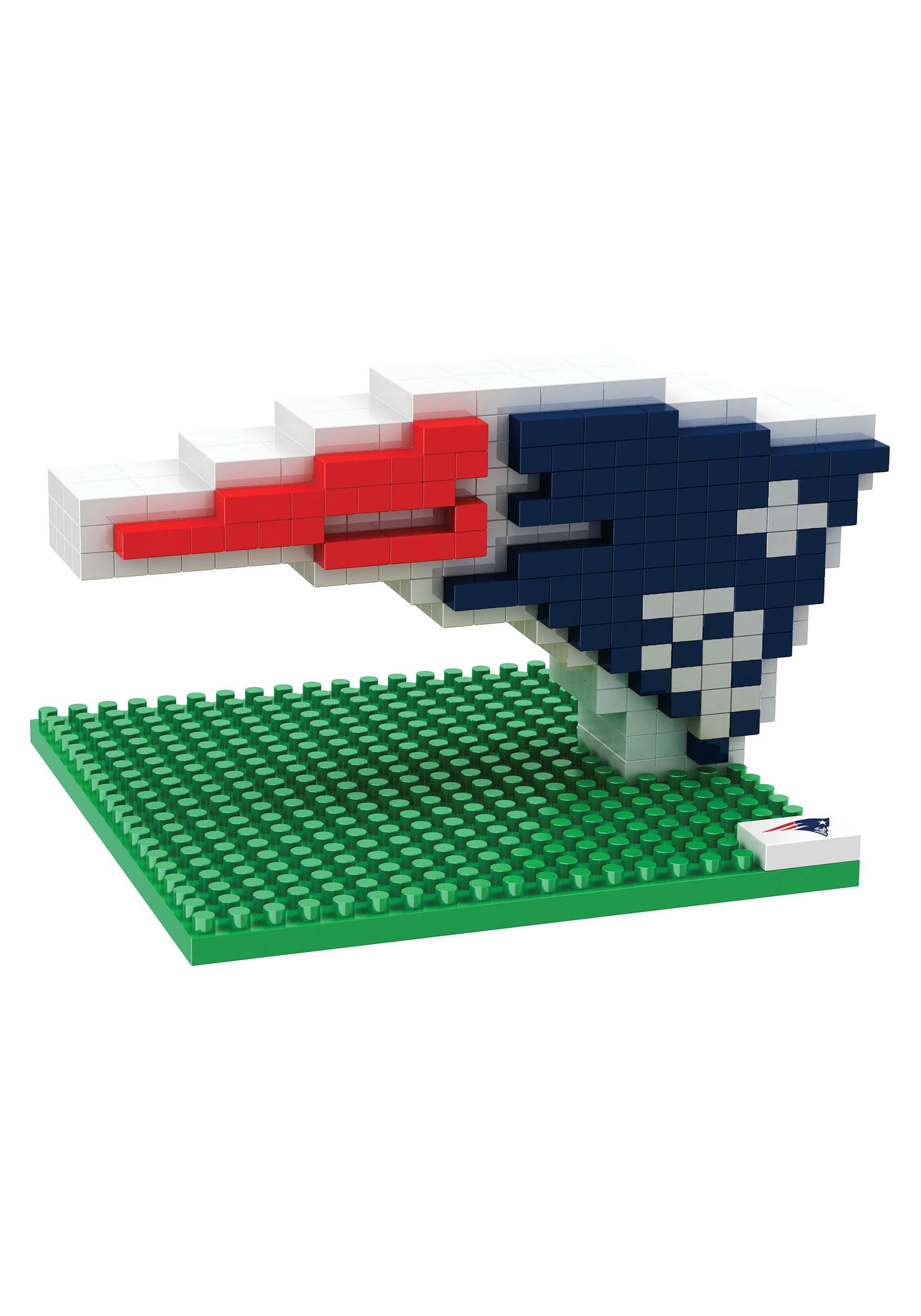 NFL New England Patriots Logo BRXLZ 3D Puzzle