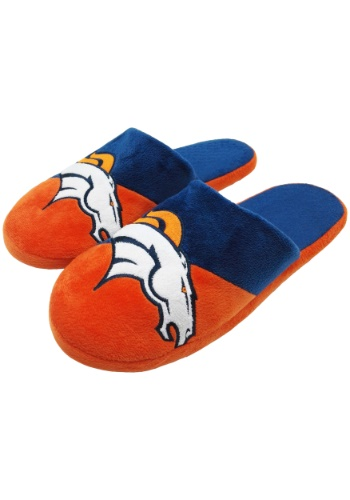 NFL Denver Broncos Colorblock Slide Slippers
