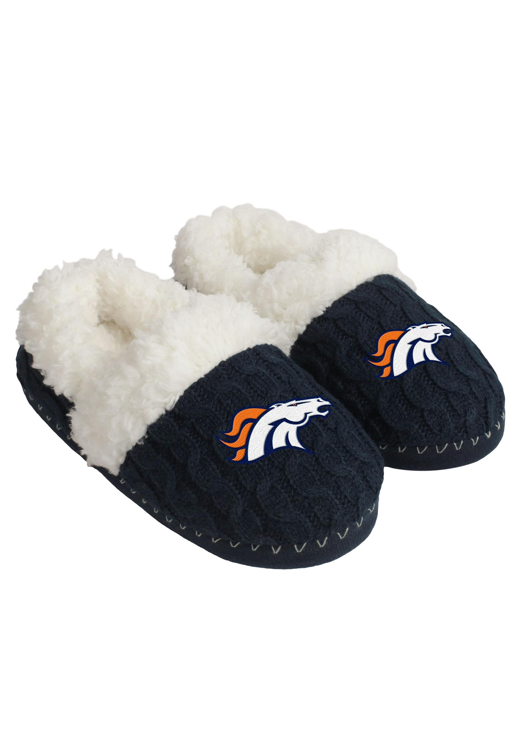 Nfl Denver Broncos Team Color Moccasins For Women