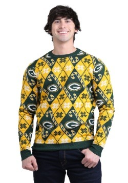 Green Bay Packers Big Logo Aztec Ugly Christmas Sweater