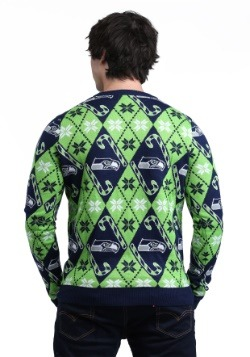 Seattle Seahawks Candy Cane Sweater