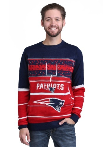 New England Patriots Stadium Light Up Sweater1
