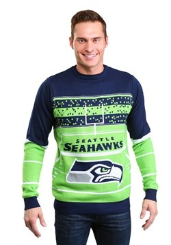 Seattle Seahawks Stadium Light Up Ugly Christmas Sweater