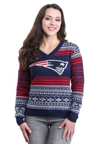 New England Patriots Big Logo Aztec Sweater