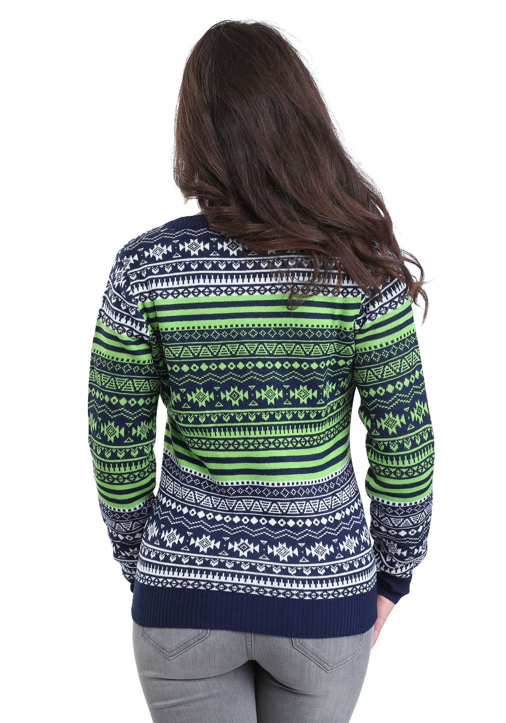 seattle seahawks big logo aztec sweater - Seahawks Christmas Sweater
