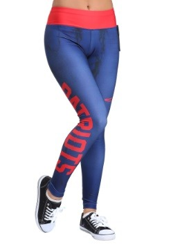 New England Patriots Marble Leggings
