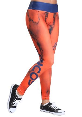 Denver Broncos Marble Leggings