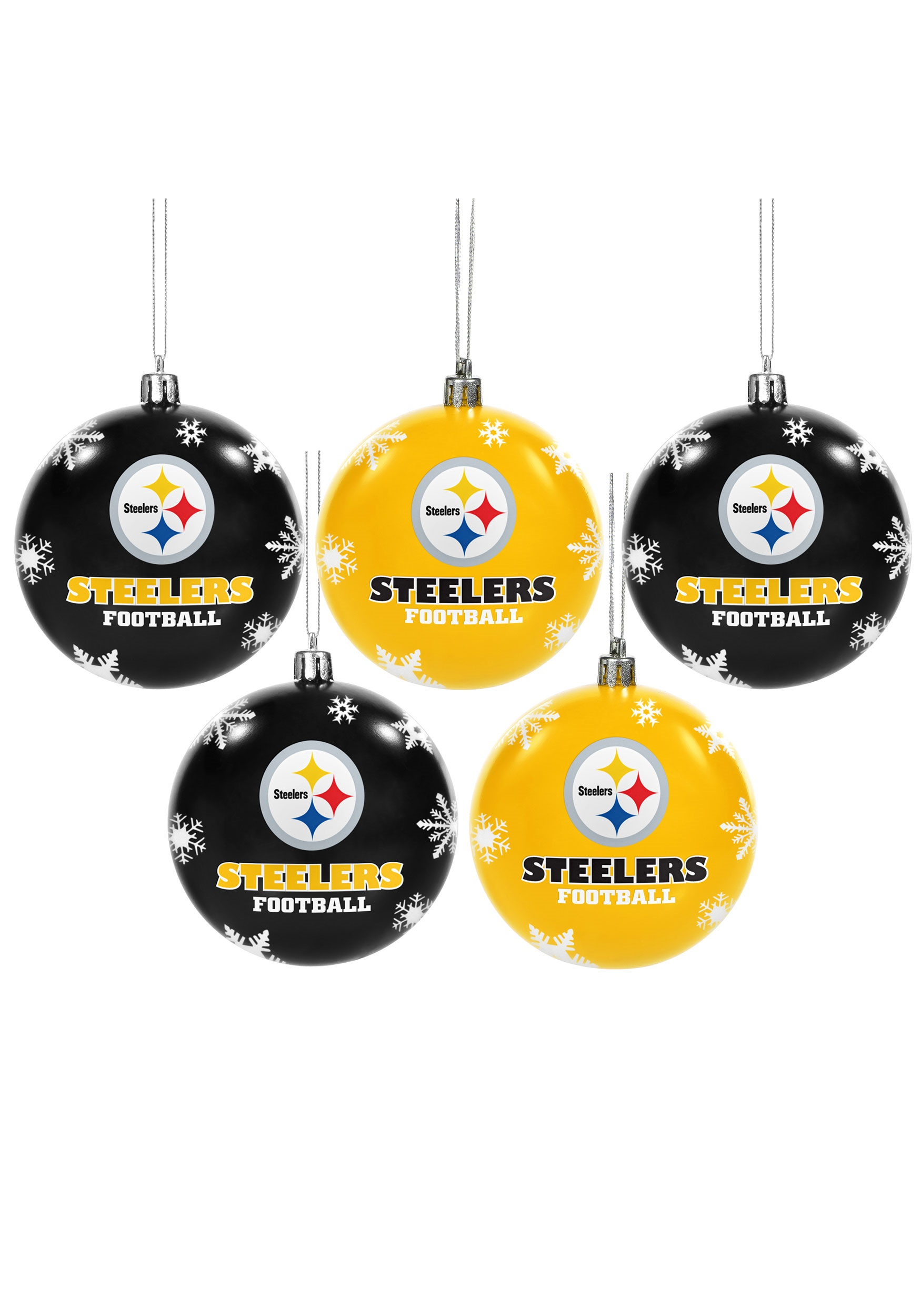 Nfl Pittsburgh Steelers Ornament Set
