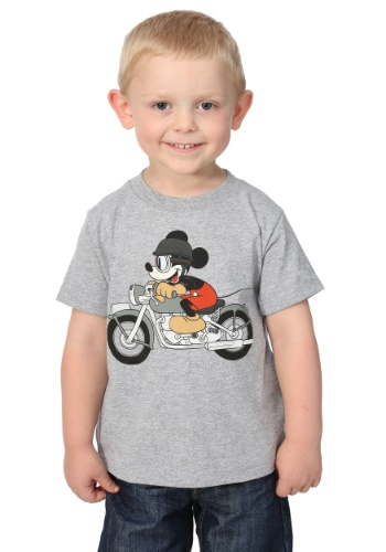 Boys Mickey Mouse Motorcycle Toddler Tee MFQD127OEW12T-2T