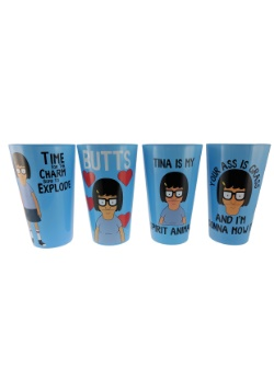 Bob's Burgers Tina 4 Pack Glass Set