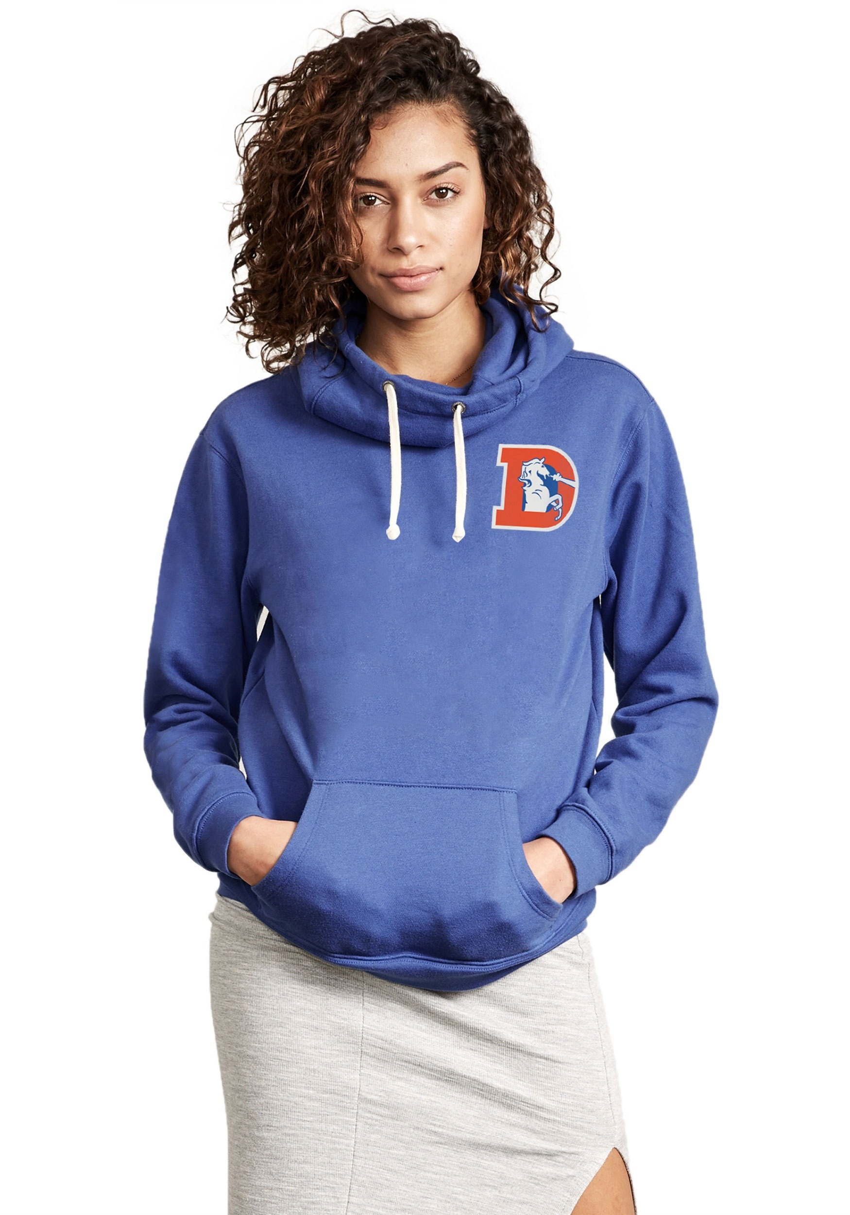 the best attitude 58795 abc22 Denver Broncos Sunday Cowl Neck Women's Hoodie
