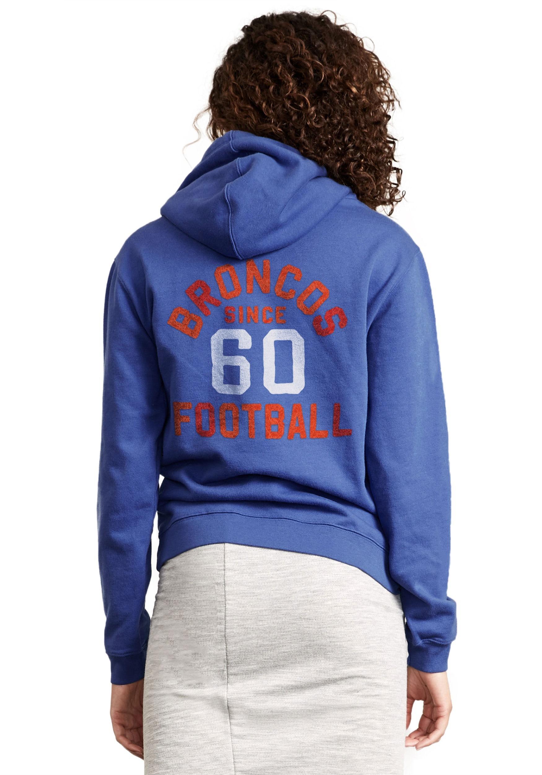 03aaf7336cd Denver Broncos Sunday Cowl Neck Hoodie for Women