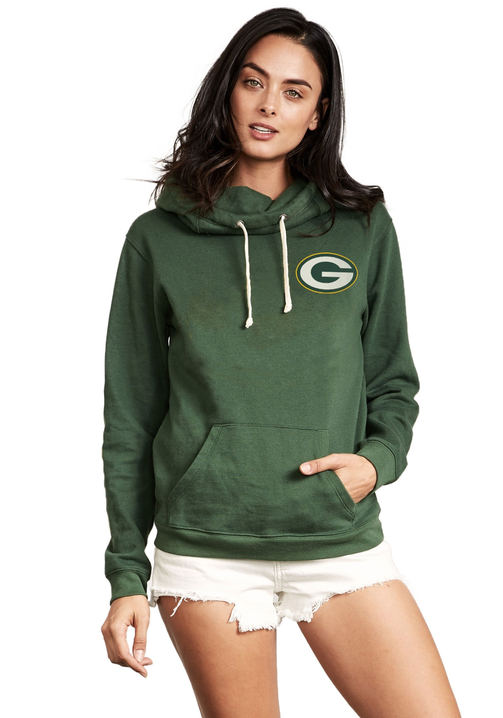 6b247d71 Green Bay Packers Sunday Cowl Neck Hoodie for Women