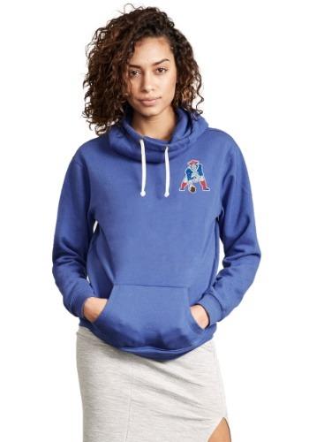 New England Patriots Sunday Cowl Neck Women's Hoodie