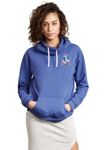 NFL New England Patriots Sunday Cowl Neck Women's Hoodie